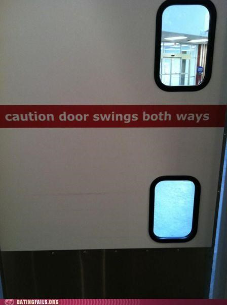 bicurious,bisexual,door,sign,swings both ways,We Are Dating