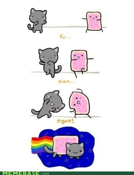fusion Nyan Cat origins poptart - 5386105088