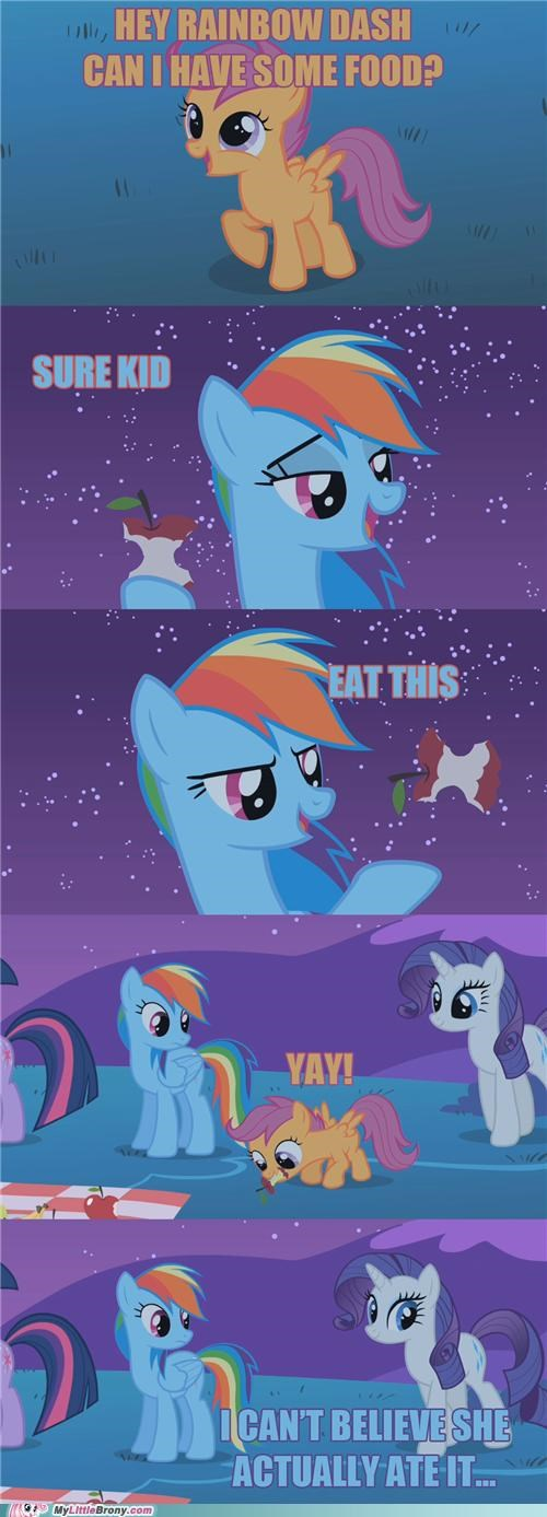 comic comics food rainbow dash Scootaloo - 5386189056