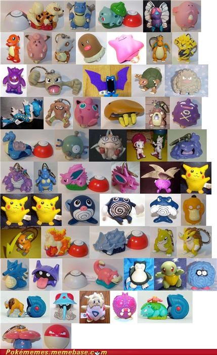 burger king fast food pokemon toys the first movie toys-games used to love these things - 5386702848