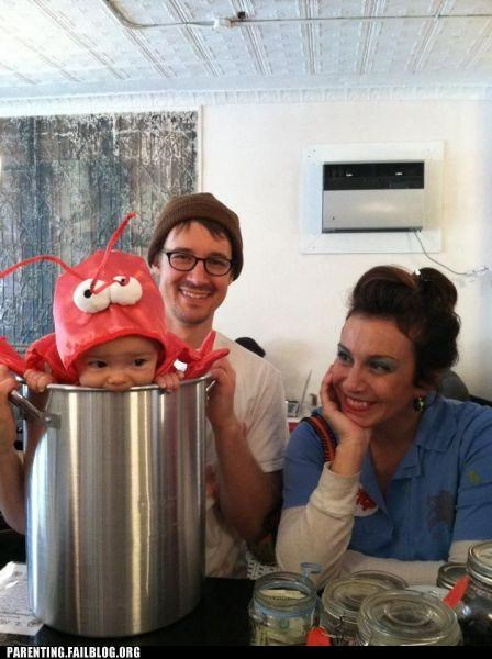 baby,cooking,costume,cute,lobster,Parenting Fail,parenting WIN
