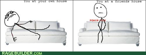 comfy,couch,poker face,Rage Comics