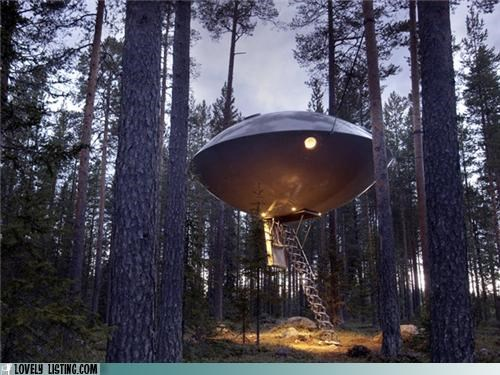 Aliens around the interwebs awesome spooky treehouse ufo