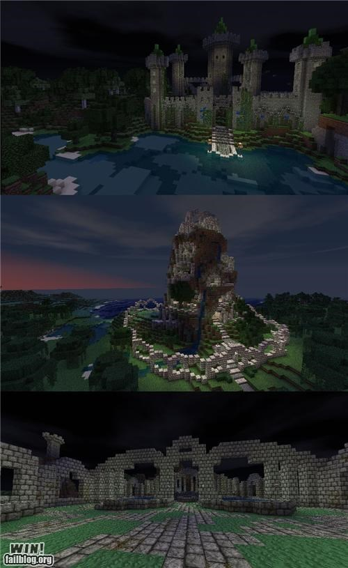 castle,creation,know your meme,minecraft,nerdgasm,video game