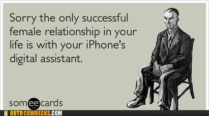 ecard,forever alone,iphone,relationships,siri