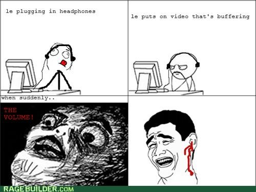 headphones,hearing,Rage Comics,volume
