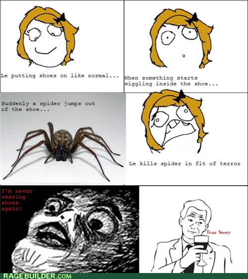 Rage Comics,scary,shoes,spider