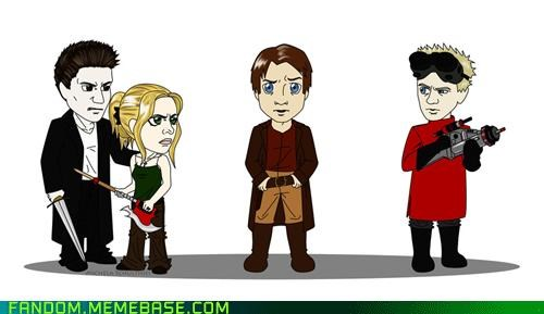 Buffy doctor horrible Fan Art Firefly nathan fillion nph whedonverse - 5387164416