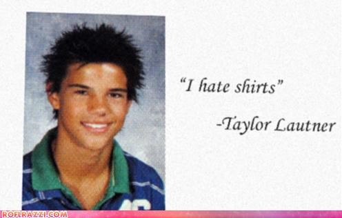 actor,celeb,funny,Hall of Fame,high school,taylor lautner