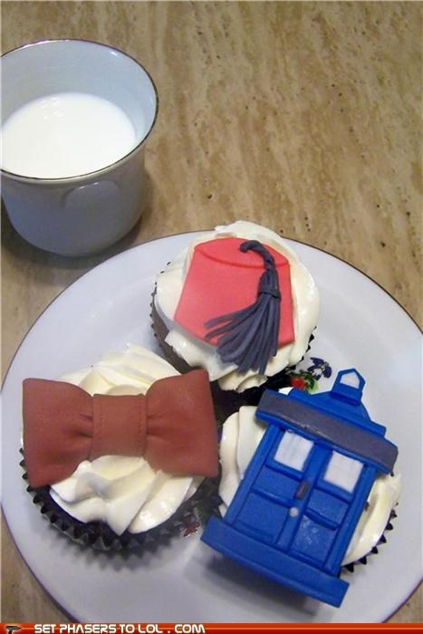 bowtie,cool,cupcakes,cute,doctor who,epicute,FEZ,food,tardis
