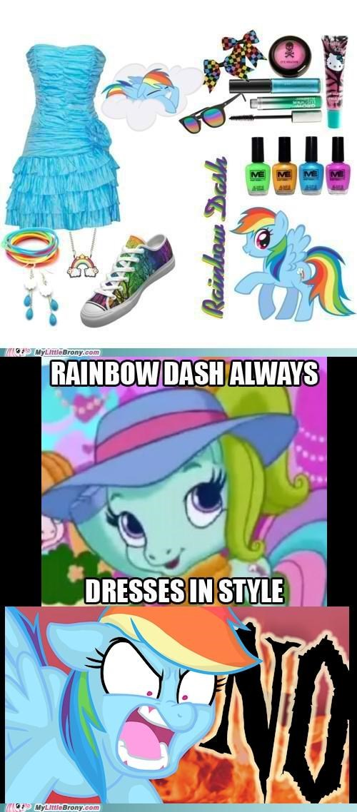 clothes in style no ponies rainbow dash reaction - 5387642368