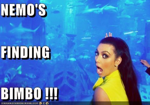 aquariums,bimbos,finding nemo,kim kardashian,NEMO,water