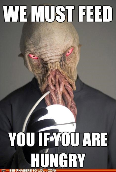 doctor who,feed,hungry,kind,misunderstood,ood