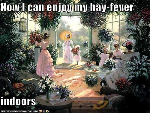 allergies art conservatory garden greenhouse hay fever historic lols indoor garden indoor hay fever painting - 5387810048