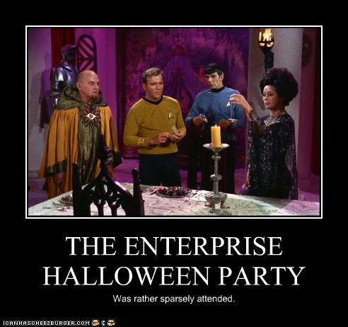 THE ENTERPRISE HALLOWEEN PARTY Was rather sparsely attended.
