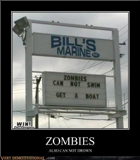 drowning hilarious sign zombie - 5388036096
