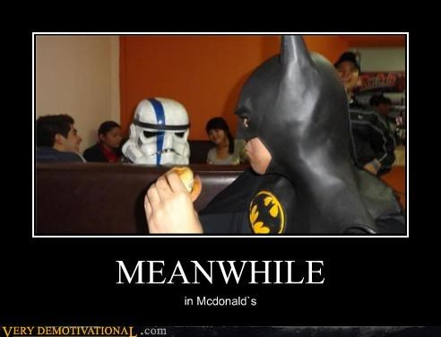 batman,hilarious,McDonald's,stormtrooper,wtf