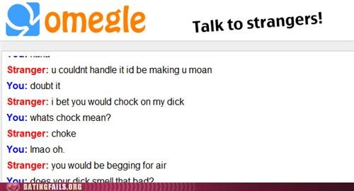 funny misspellings in a weird Omegle exchange
