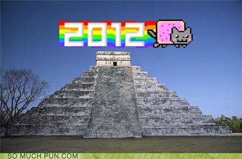 2012 Hall of Fame literalism mayan Nyan Cat quetzalcoatl similar sounding pun words - 5388710144