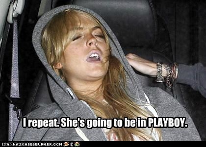 gross,lindsay lohan,nekkid,news,playboy,sleeping,ugly