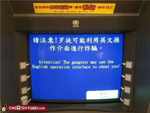 atm fail cheating gangsters