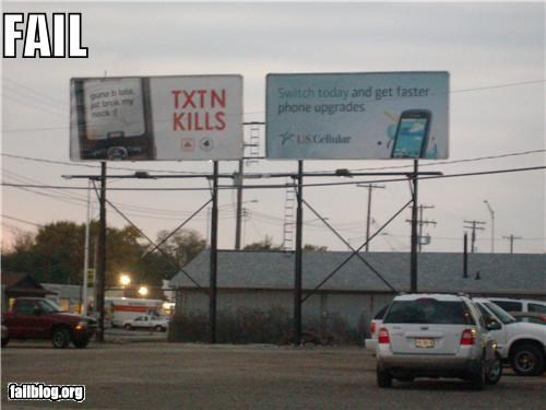 billboards,failboat,g rated,irony,juxtaposition,texting