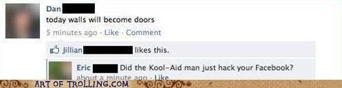 doors facebook kool aid kool-aid man walls - 5389354752