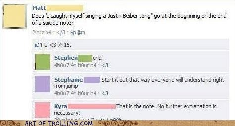 Bieber facebook Music suicide note - 5389356032