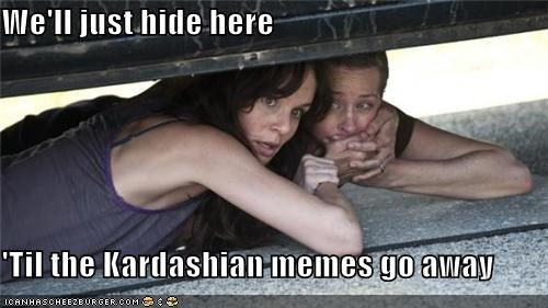hide kardashian meme The Walking Dead zombie