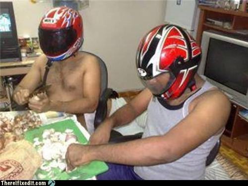 cooking kludge,dual use,helmet,menamirite