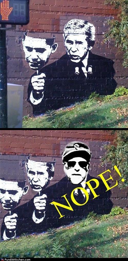 banksy barack obama george w bush Hall of Fame political pictures - 5389929472