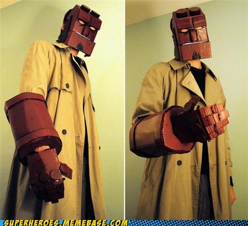 awesome cardboard costume hellboy Super Costume - 5389977600