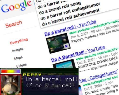 barrel roll,do a barrel roll,easter egg,google,Nerd News,starfox,Tech,video games
