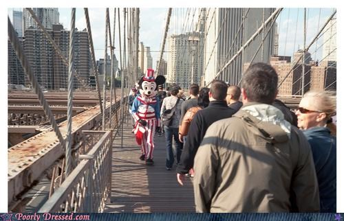 Brooklyn Bridge,disney characters,mickey mouse