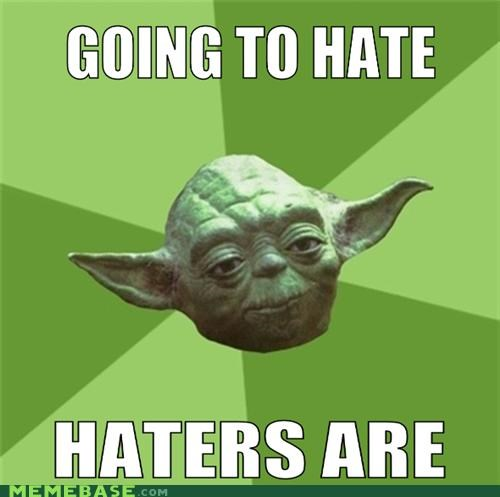 anger hate haters gonna hate movies star wars suffering yoda