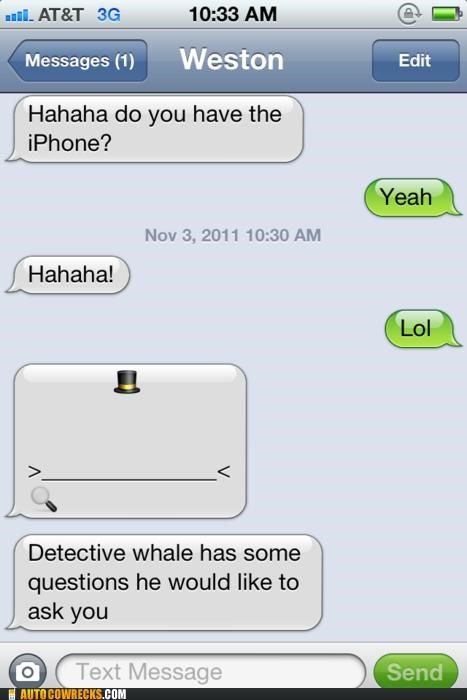 detective,detective whale,Hall of Fame,iphone,whale