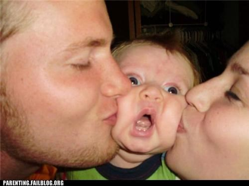 baby,dad,derp,face,gross,KISS,mom,Parenting Fail