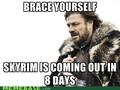 lives,Skyrim,video games,week,Winter Is Coming
