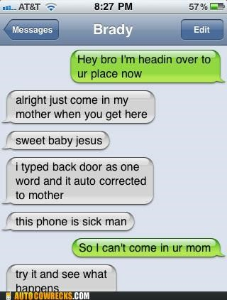 autocorrect back door backdoor come mother - 5390299392