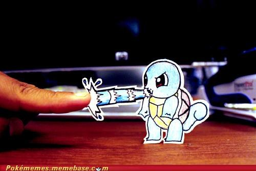 art,hydro pump,IRL,squirtle,water gun