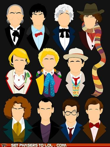 christopher eccleston colin baker David Tennant doctor who eleven jon pertwee Matt Smith patrick troughton paul mcgann peter davison sylvester mccoy the doctor tom baker william hartnell - 5390322176