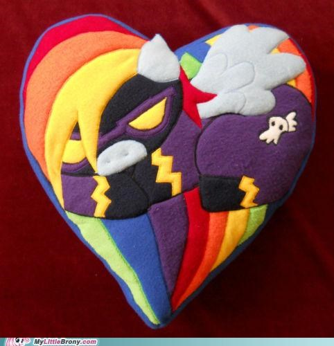 costume cute heart IRL luna eclipsed Pillow rainbow dash - 5390359040