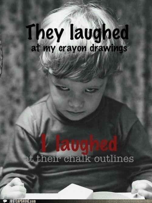 art chalk outlines child children crayons creepy evil kid murder murderer wtf - 5390606336
