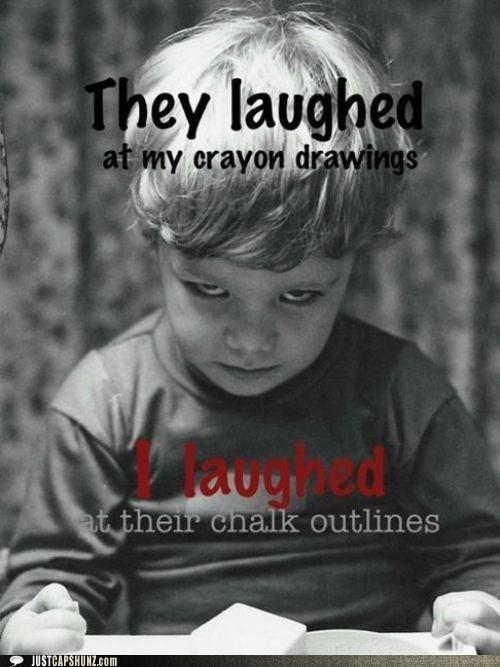 art child children crayons creepy evil kid murder murderer wtf - 5390606336