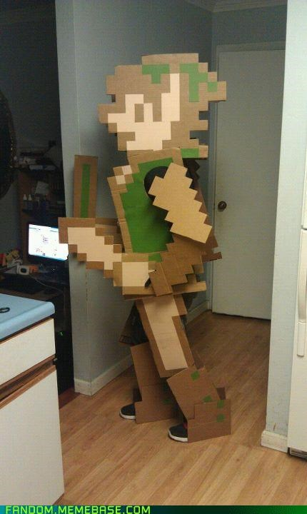 8 bit,cardboard,cosplay,legend of zelda