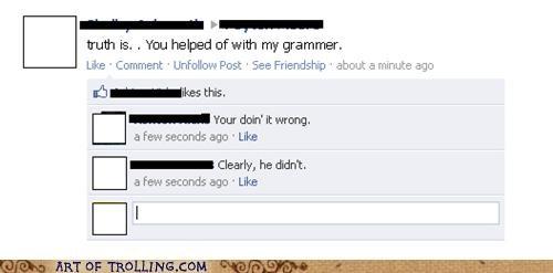 facebook FAIL grammar spelling - 5390714880