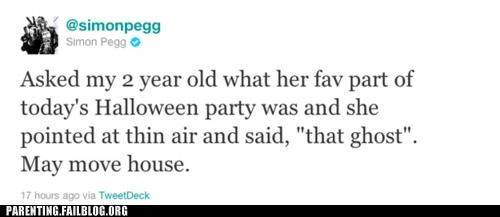 celeb celebrity parenting ghost halloween Parenting Fail Simon Pegg twitter - 5390732288
