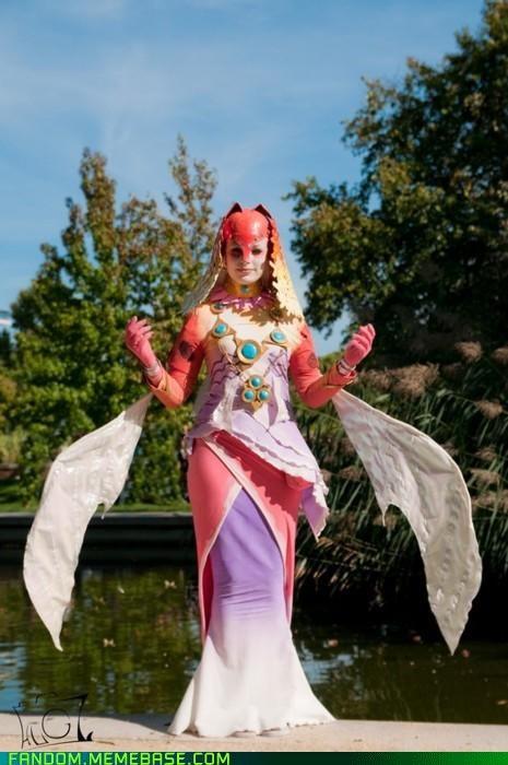 cosplay legend of zelda queen rutela of zora video games - 5390781696