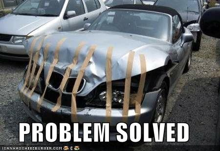 accident,automobile,car,fixed,fixed it,fixed it for you,oops,tape,thats-a-bummer-man,vehicle