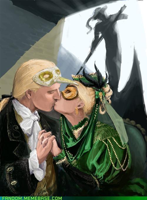 Fan Art Harry Potter Malfoys masquerade - 5390847488